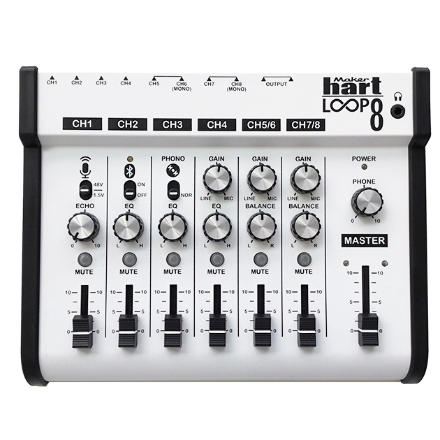 LOOP 8 -  8 channel stereo audio mixer with loop function 1