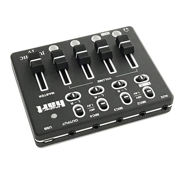Just Mic IV - mini 4 channel microphone mixer with phantom power / USB audio IN 3