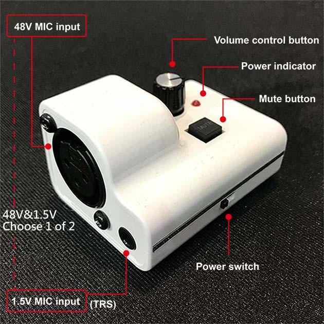 Just Mic Power - Mini Microphone Power Supply / Phantom Power 2