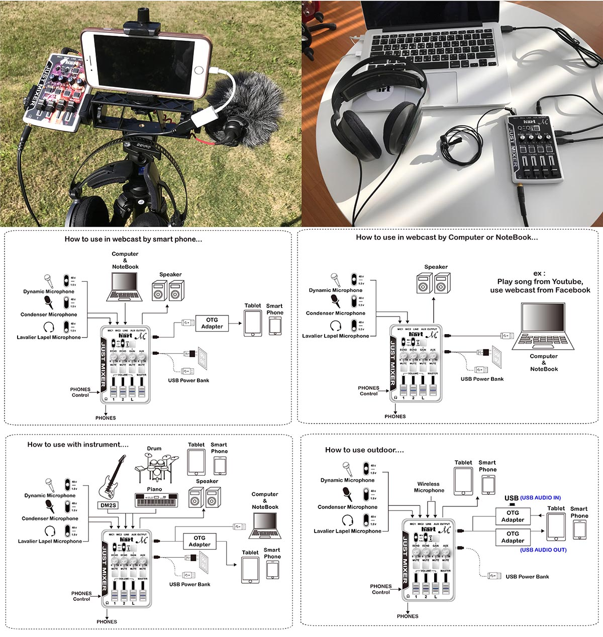 Just Mixer M Appplication for computer / mobile device / notebook